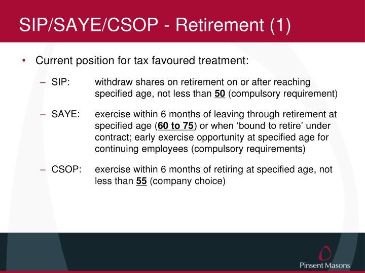 SIP/SAYE/CSOP - Retirement (1)