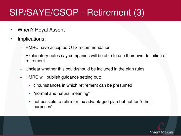 SIP/SAYE/CSOP - Retirement (3)