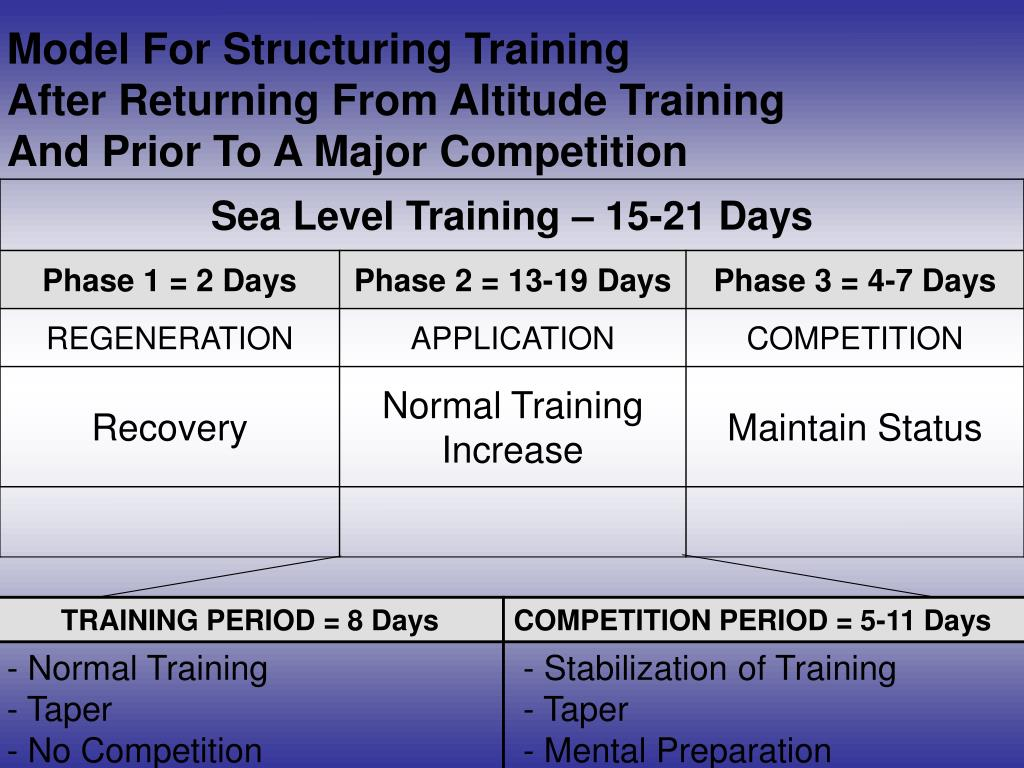 Model For Structuring Training