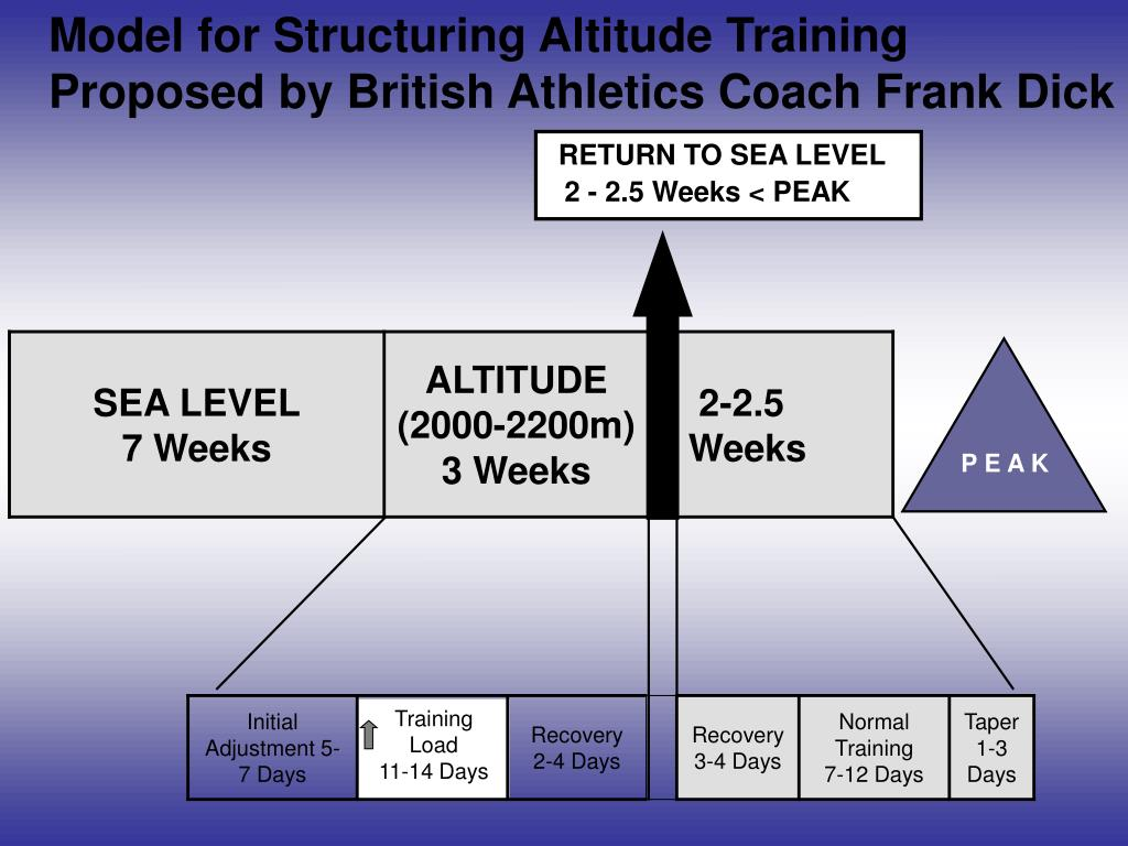 Model for Structuring Altitude Training