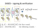 eases signing verification