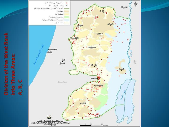 Division of the West Bank into Three Areas: