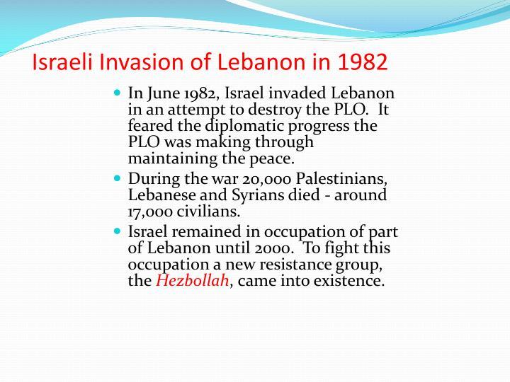 Israeli Invasion of Lebanon in 1982