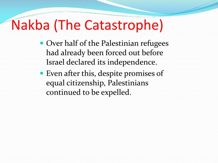Nakba (The Catastrophe)