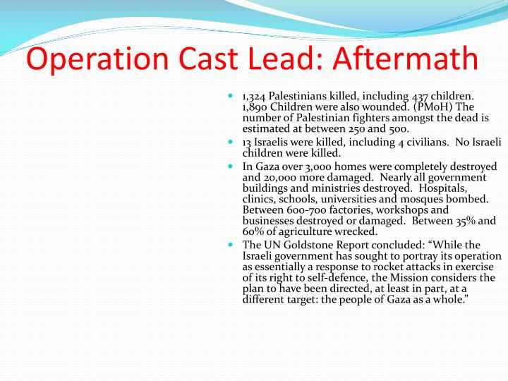 Operation Cast Lead: Aftermath