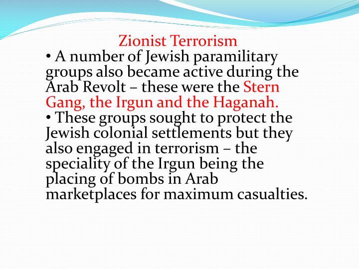 Zionist Terrorism