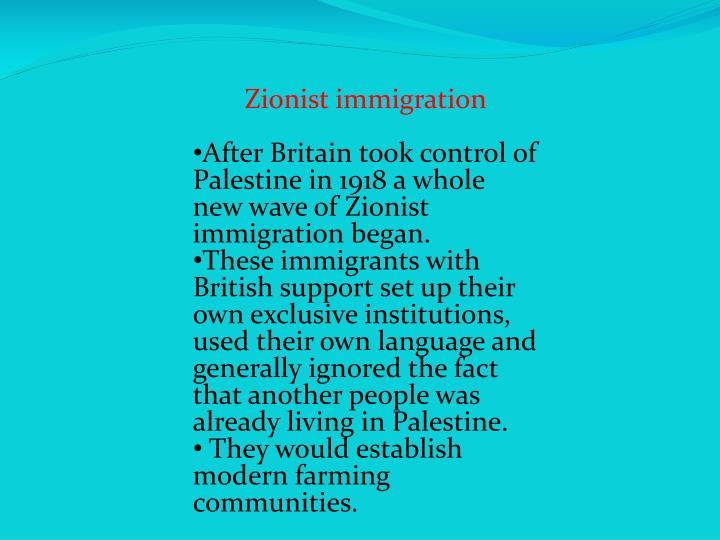 Zionist immigration