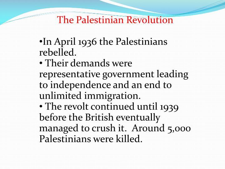 The Palestinian Revolution