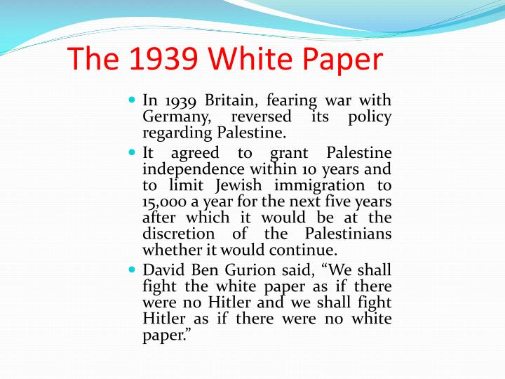 The 1939 White Paper