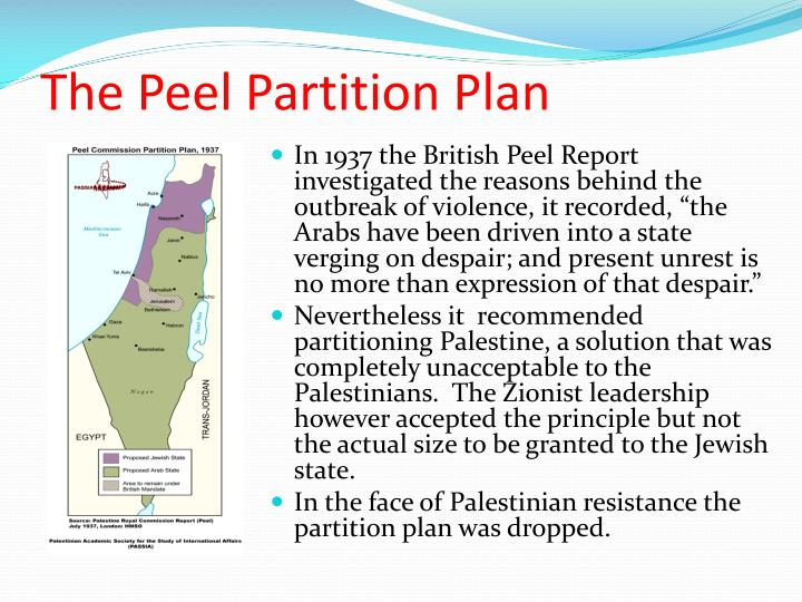 The Peel Partition Plan