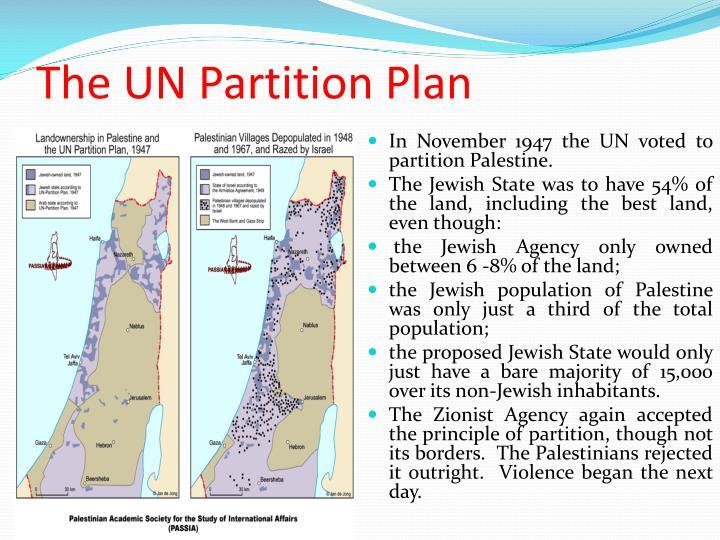 The UN Partition Plan