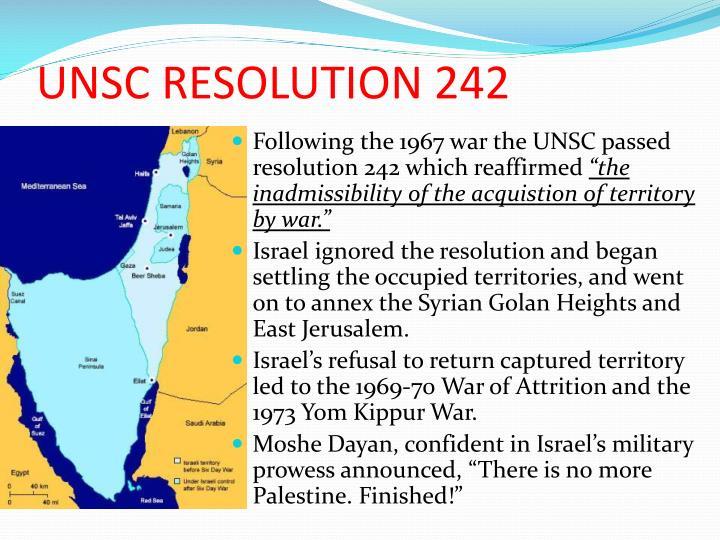 UNSC RESOLUTION 242