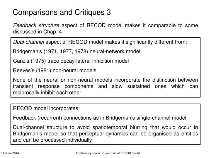 Comparisons and Critiques 3