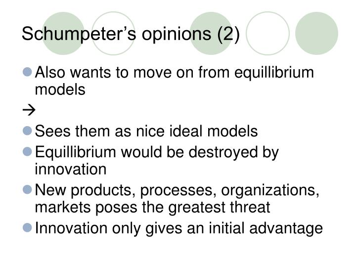 Schumpeter's opinions (2)