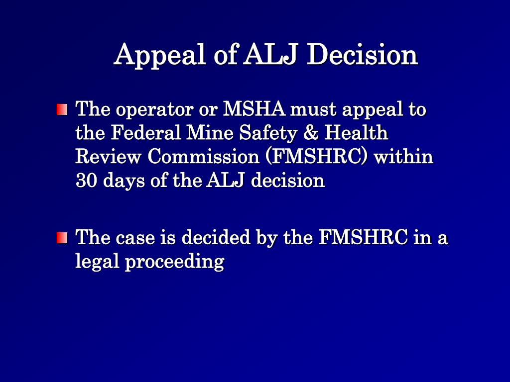 Appeal of ALJ Decision