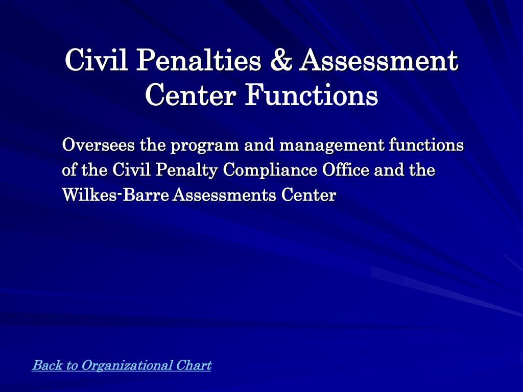Civil Penalties & Assessment Center