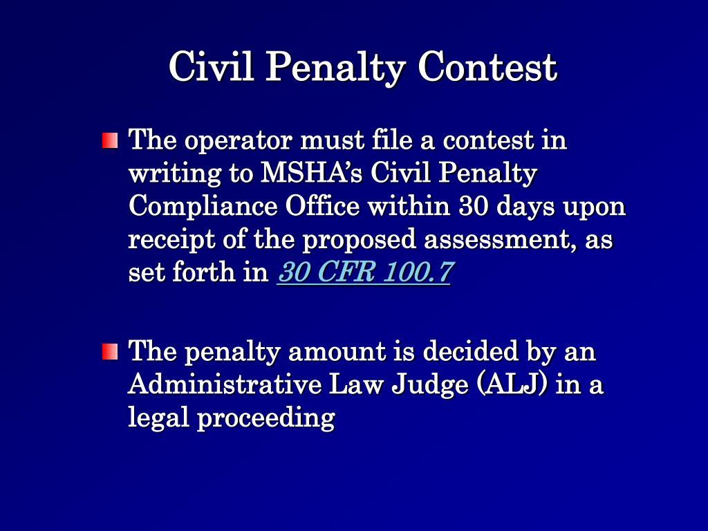 Civil Penalty Contest