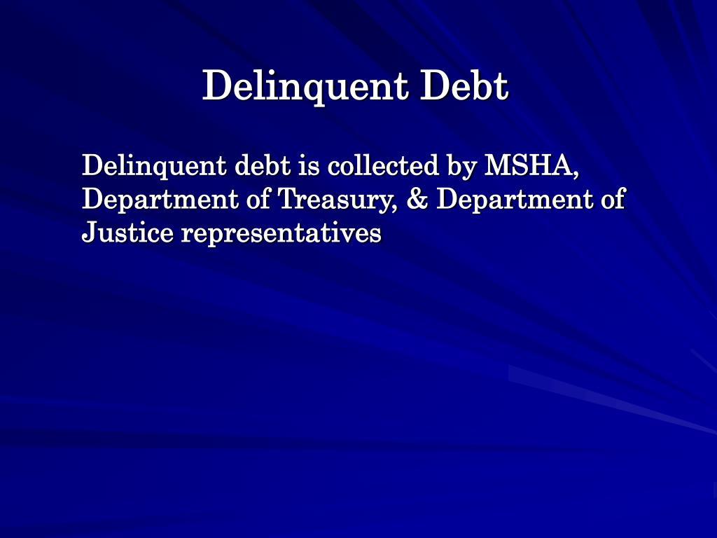 Delinquent Debt