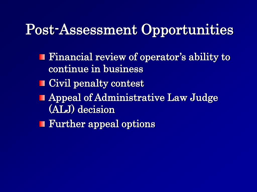 Post-Assessment Opportunities