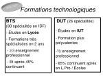 formations technologiques