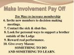make involvement pay off1