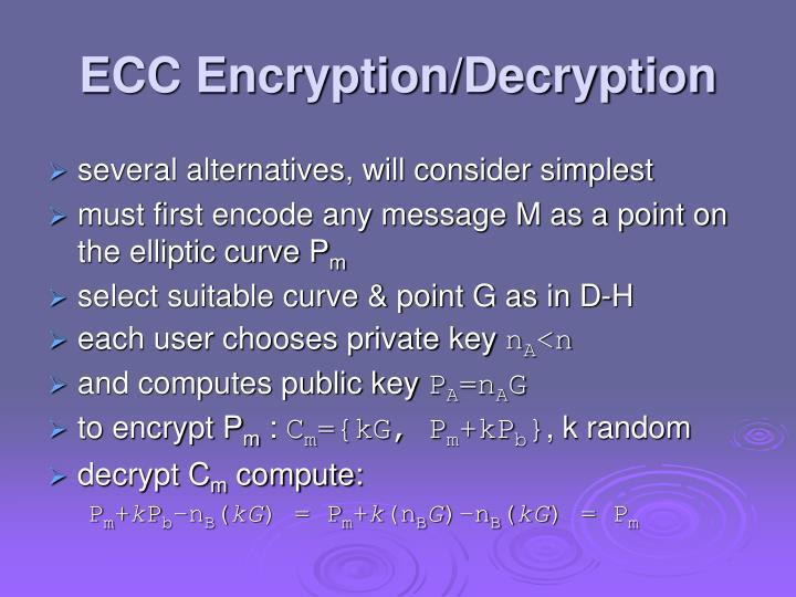 ECC Encryption/Decryption