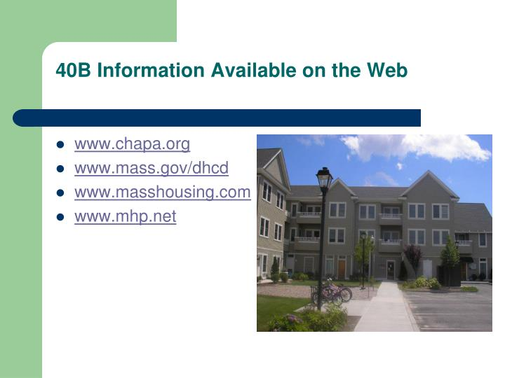 40b information available on the web