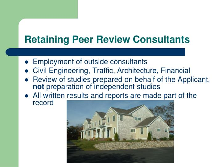 Retaining Peer Review Consultants