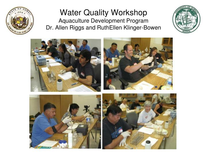 Water Quality Workshop