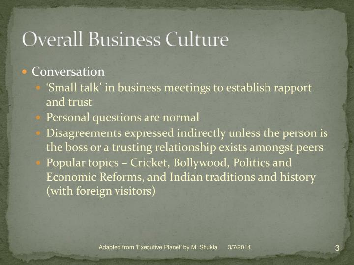 Overall business culture3