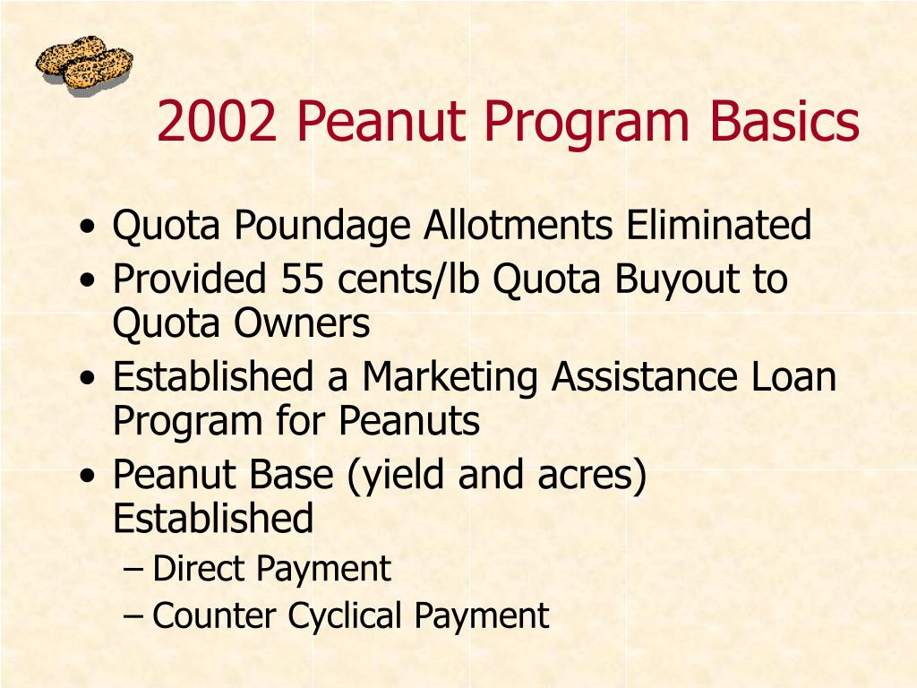 2002 Peanut Program
