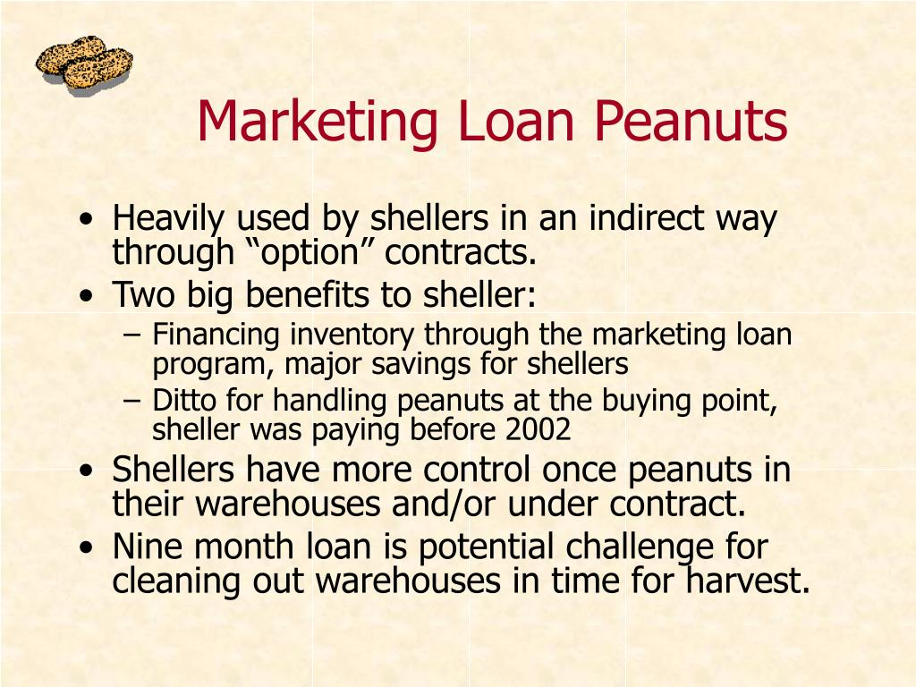 Marketing Loan Peanuts