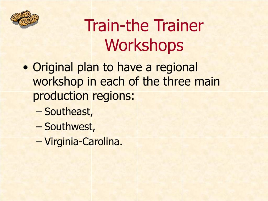 Train-the Trainer Workshops