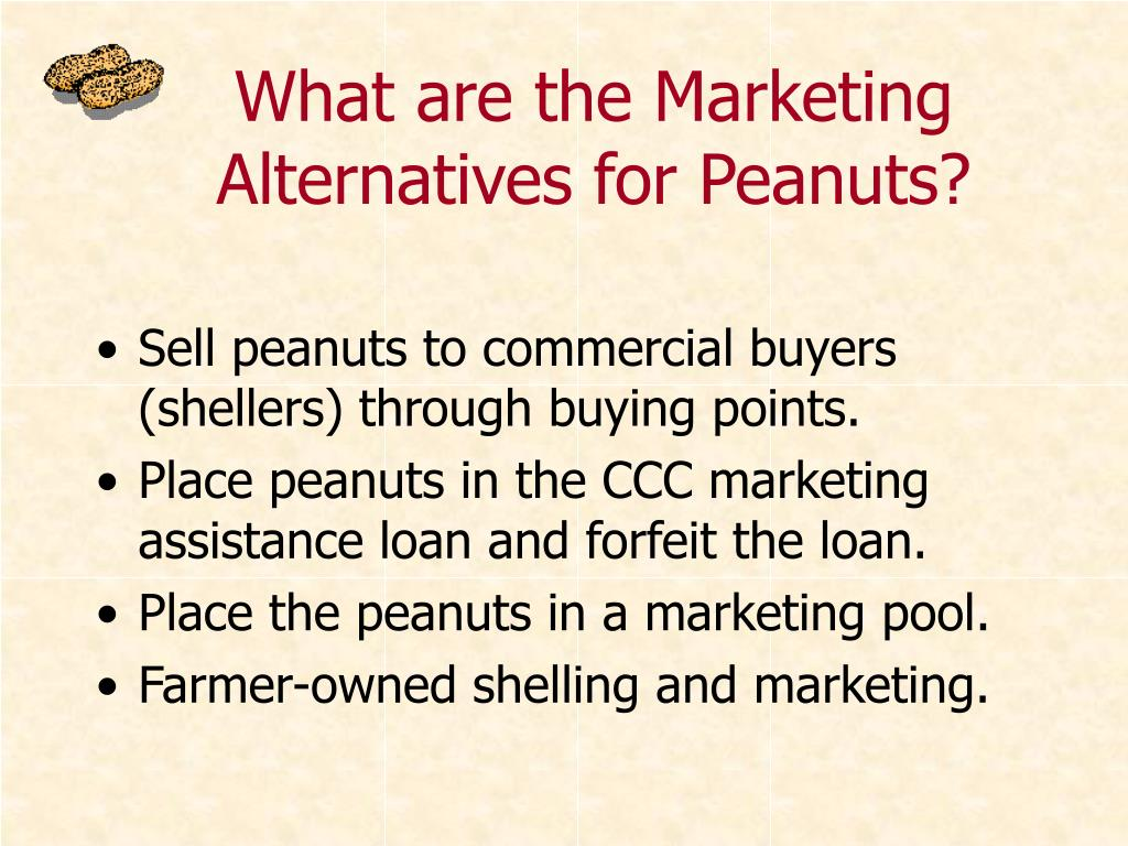 What are the Marketing Alternatives for Peanuts?