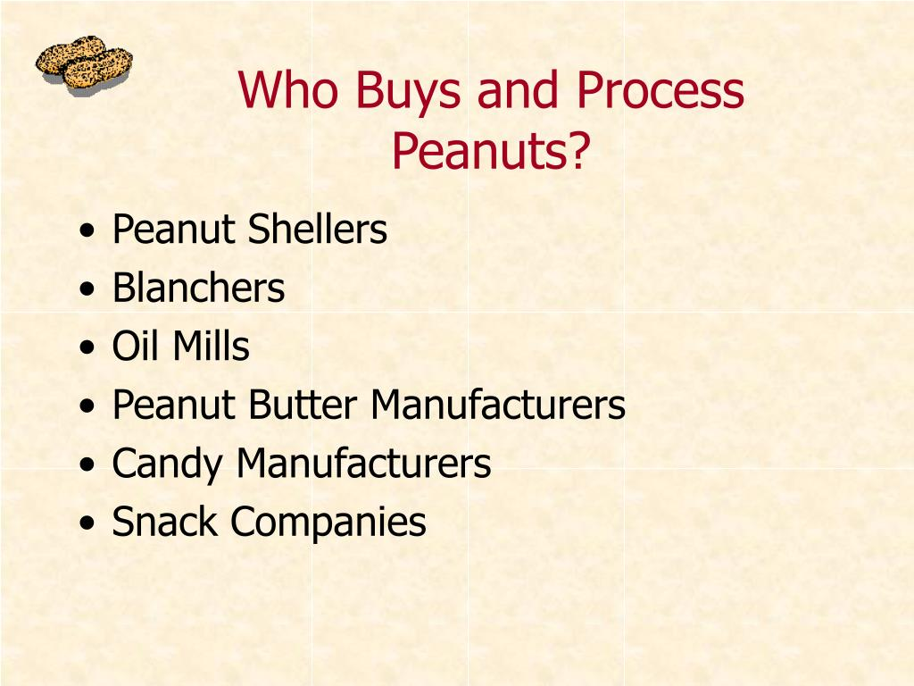 Who Buys and Process Peanuts?