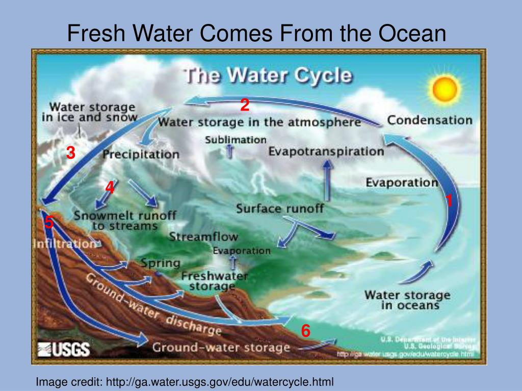 Fresh Water Comes From the Ocean