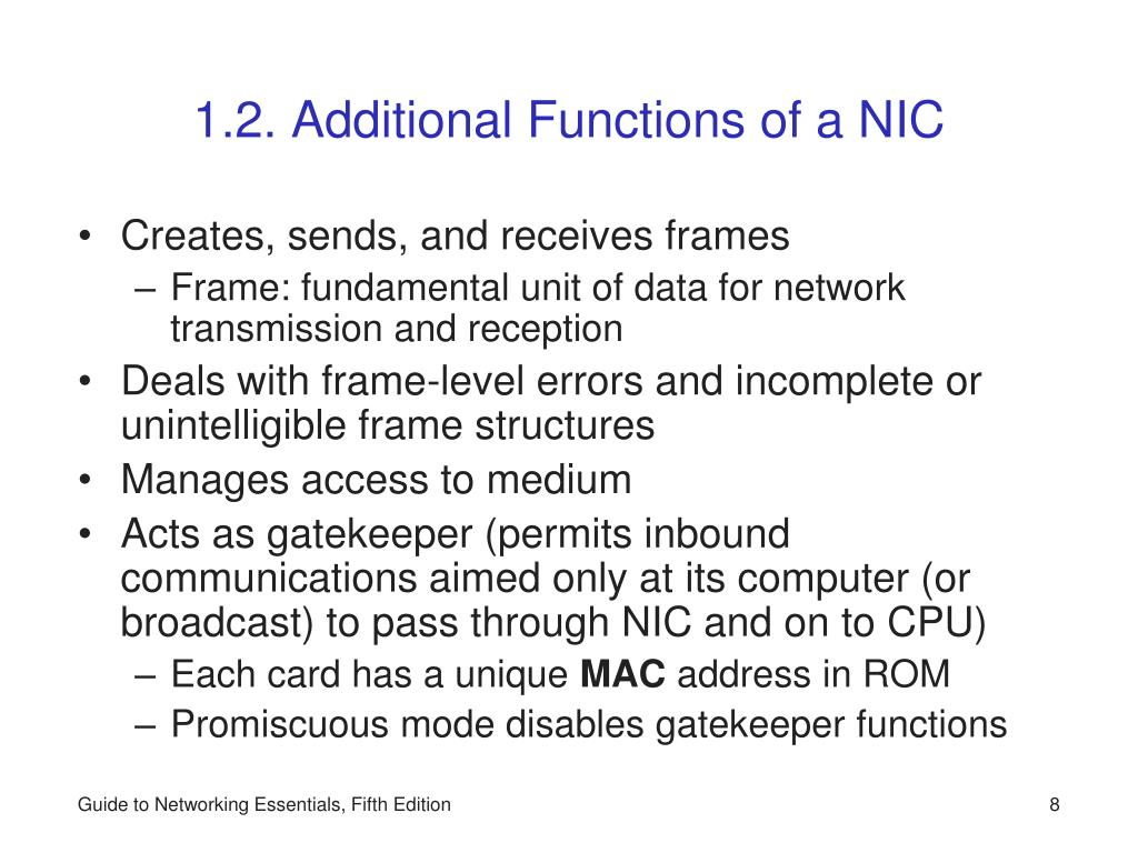 1.2. Additional Functions of a NIC