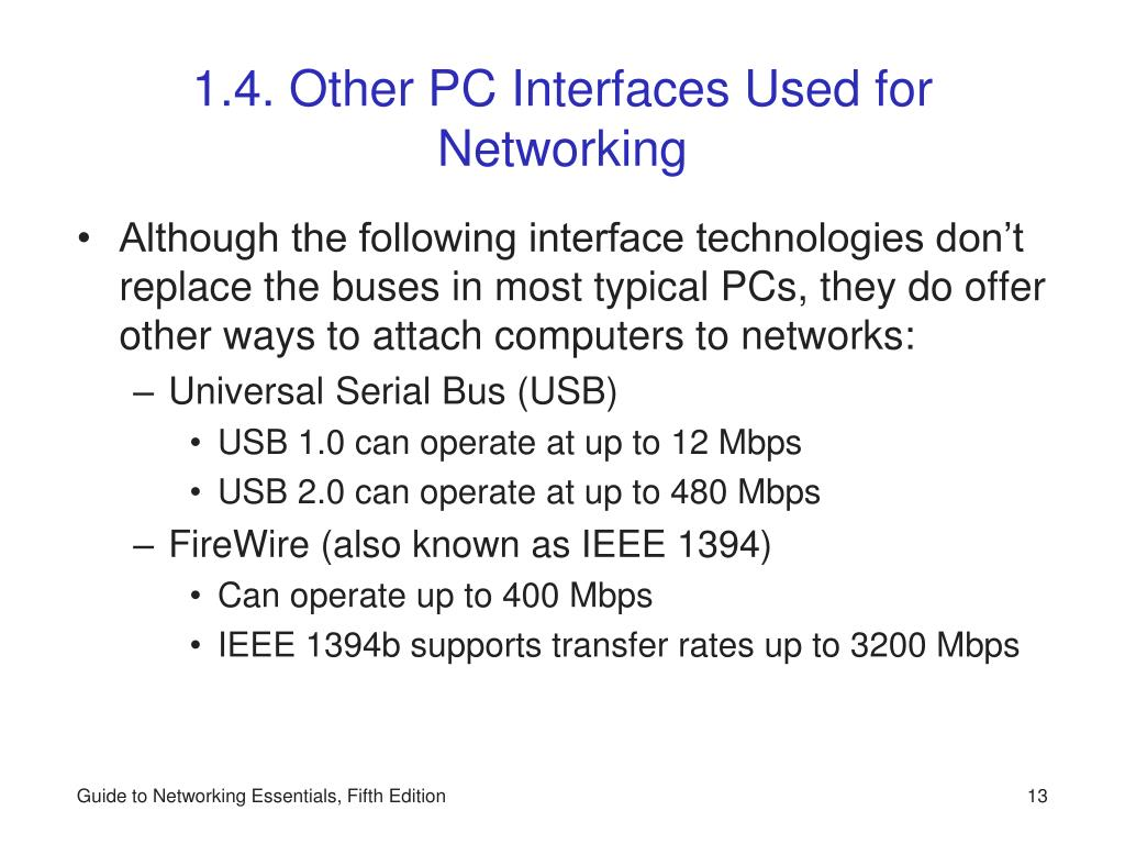 1.4. Other PC Interfaces Used for Networking