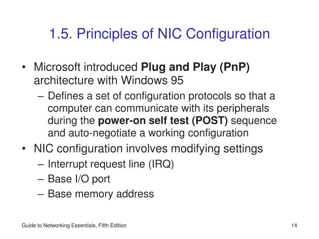 1.5. Principles of NIC Configuration