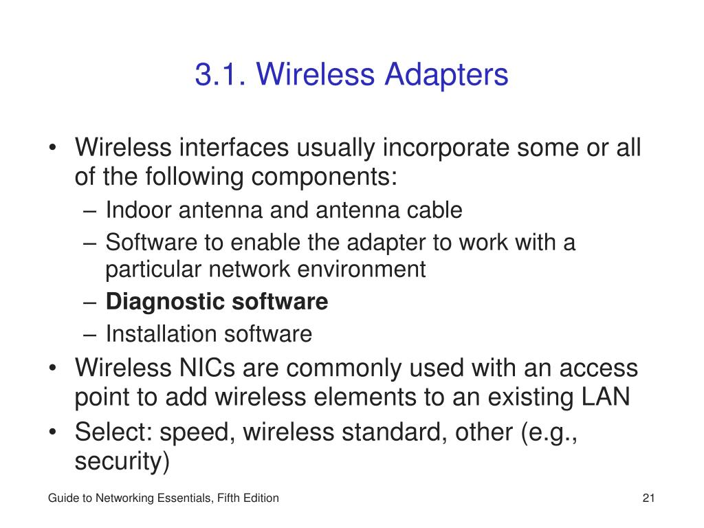 3.1. Wireless Adapters