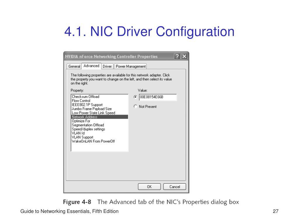 4.1. NIC Driver Configuration