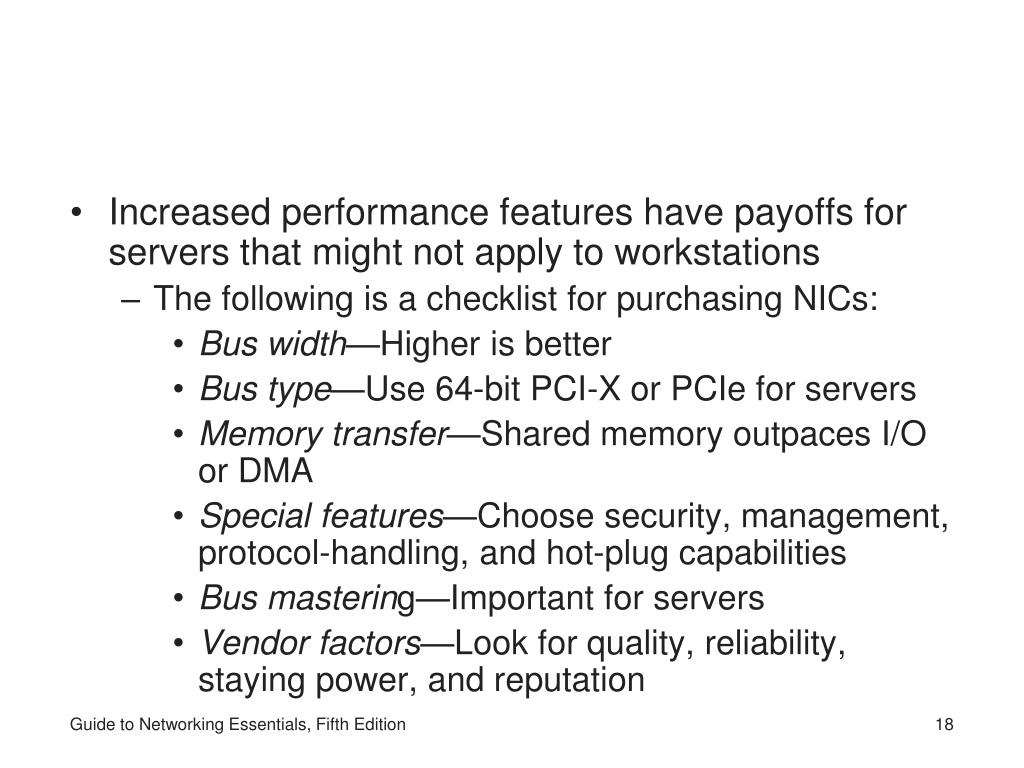 Increased performance features have payoffs for servers that might not apply to workstations