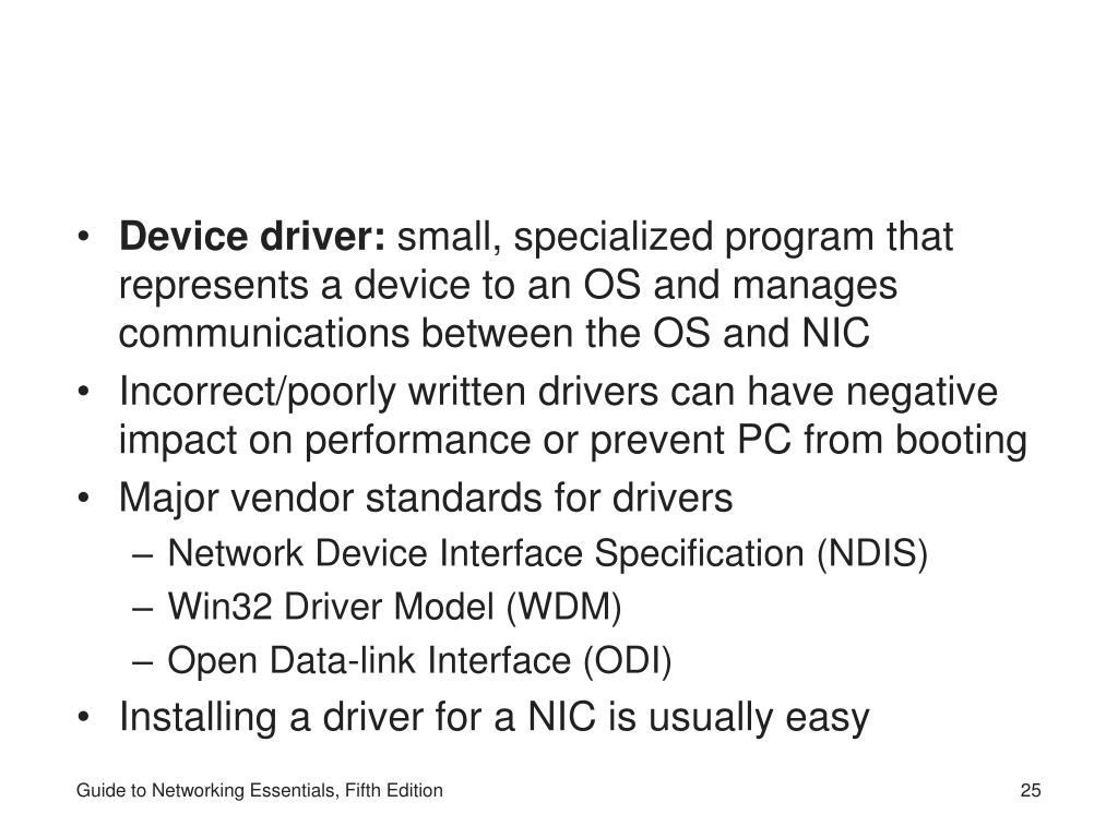 Device driver: