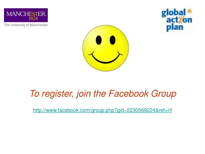 To register, join the Facebook Group