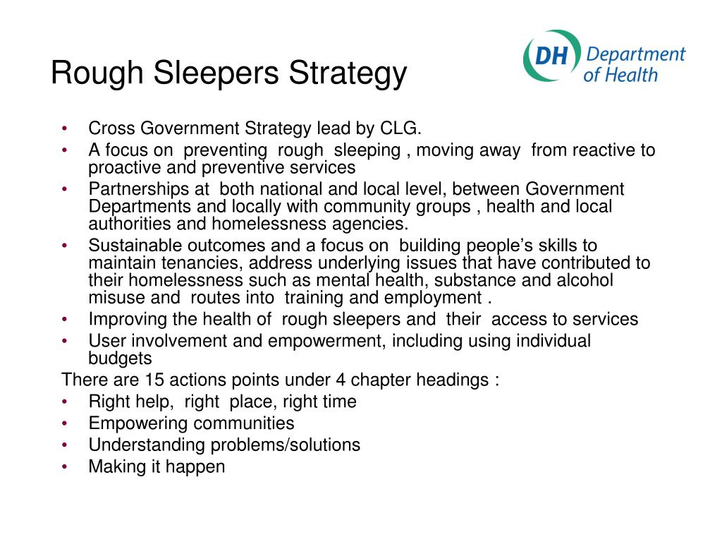 Rough Sleepers Strategy