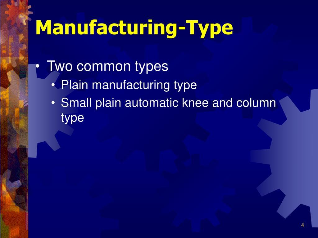 Manufacturing-Type
