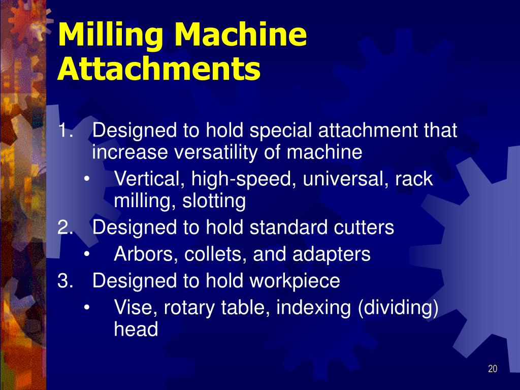 milling machine accessories and attachments
