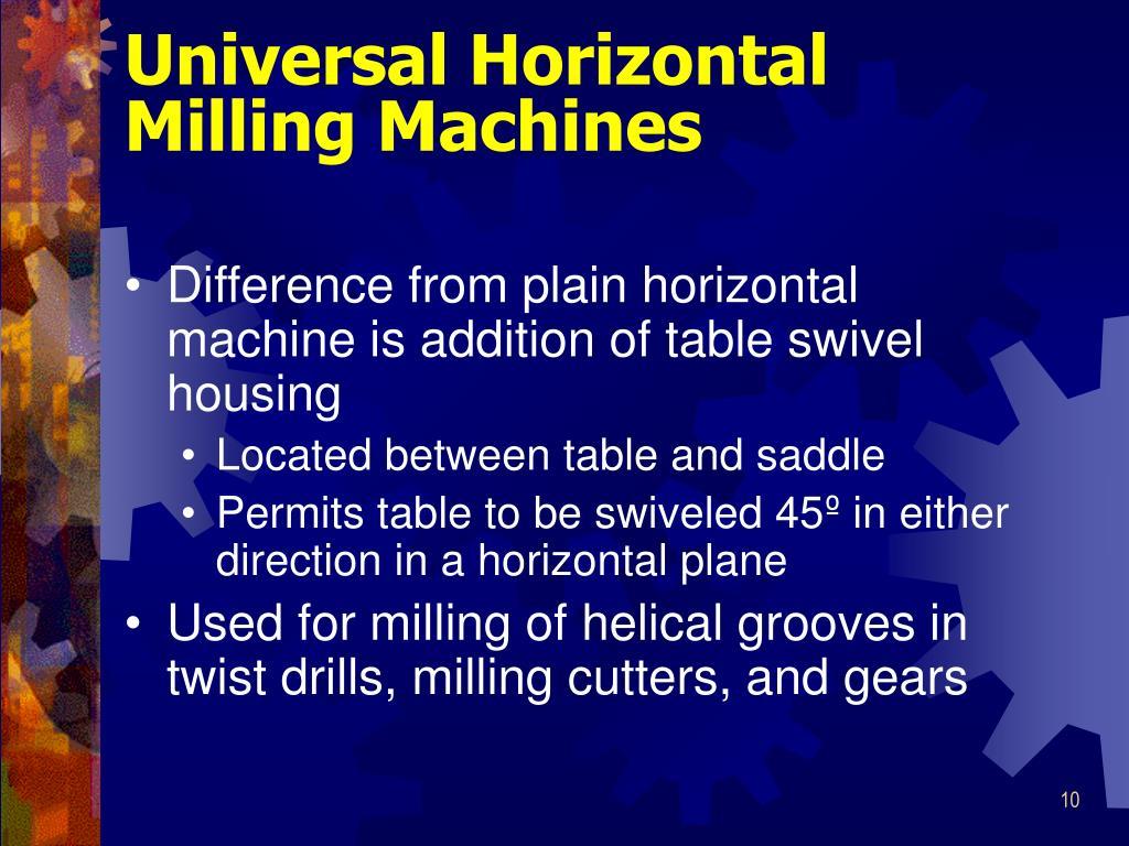 Universal Horizontal