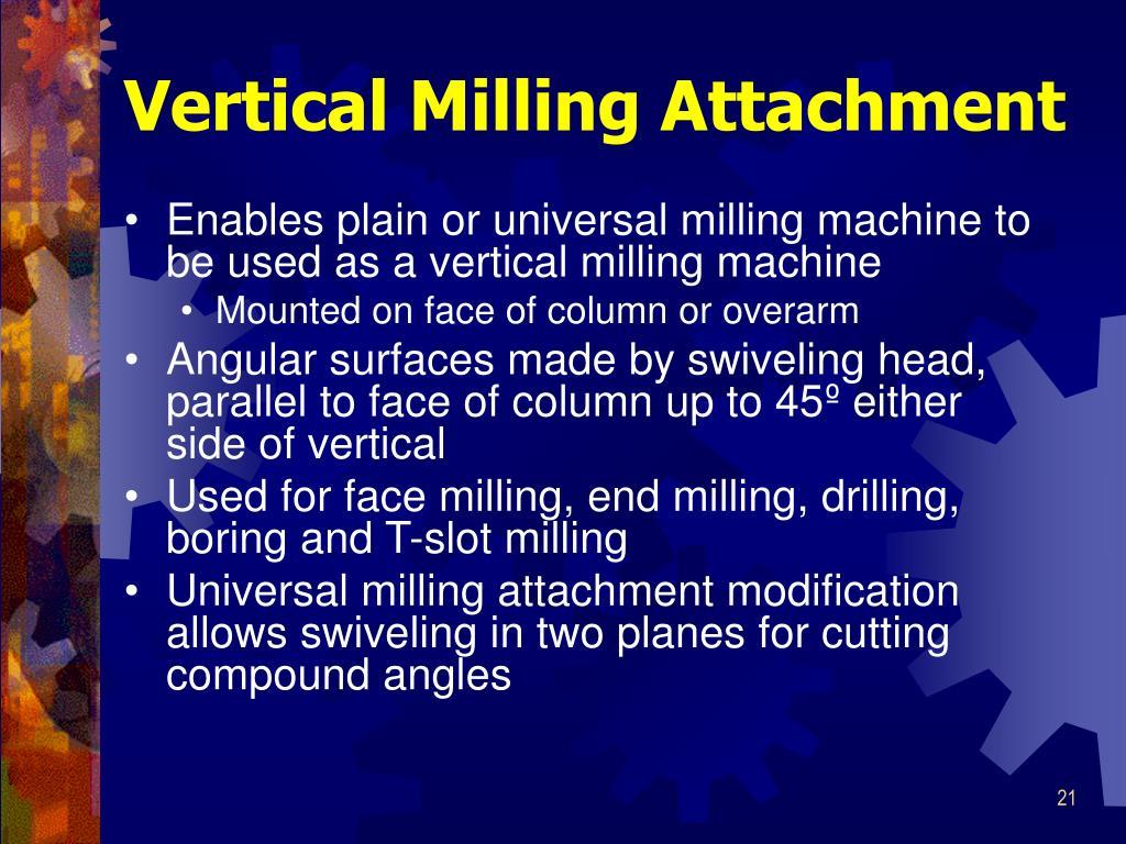 Vertical Milling Attachment
