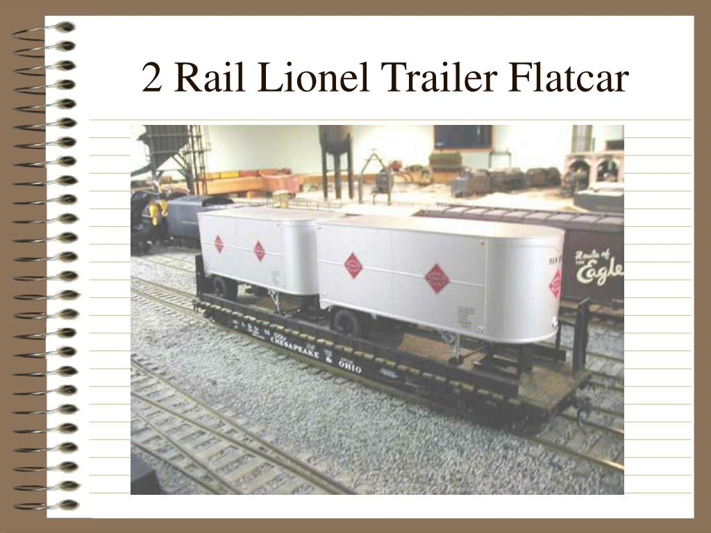 2 Rail Lionel Trailer Flatcar
